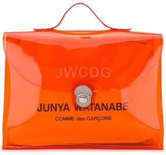 Junya Watanabe logo print messenger bag