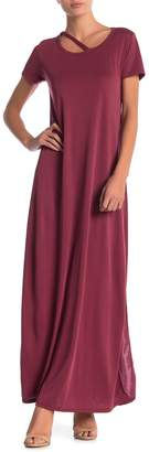 Couture Go Crew Neck Short Sleeve Maxi Dress