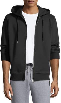 Theory Men's Cure Fleece Essential Zip-Front Hoodie