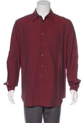 Giorgio Armani Point Collar Button-Up Shirt