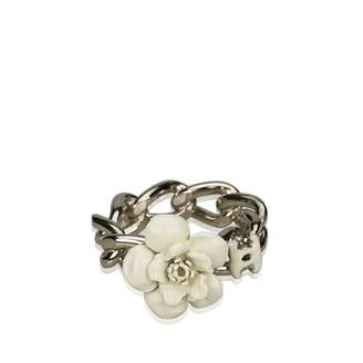Chanel Silver Metal Ring