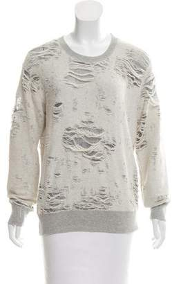 IRO Distressed long Sleeve Sweatshirt