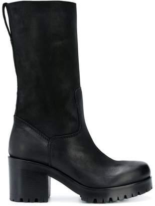 Strategia chunky heel knee boots