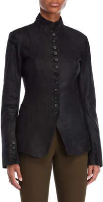 Masnada Military Leather Jacket