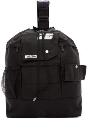 Ader Error ADER error SSENSE Exclusive Black ASCC Single Strap Backpack