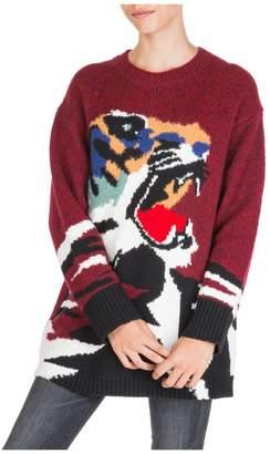 Kenzo Jumper Sweater Crew Neck Round Tiger Head