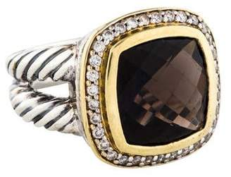 David Yurman Smoky Quartz & Diamond Albion Ring