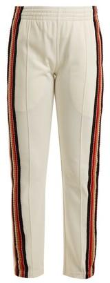 Wales Bonner Crochet Striped Track Pants - Womens - White Multi
