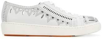Santoni cut-out detail sneakers