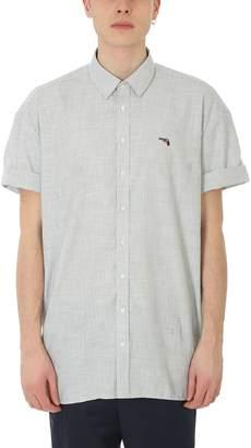 Neil Barrett Grey/white Cotton Shirt