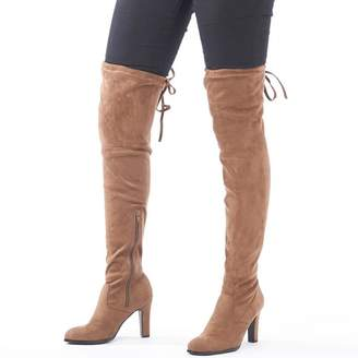 Feud Womens Over The Knee Boots Mink