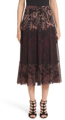 Women's Fuzzi Tulle Midi Skirt $575 thestylecure.com