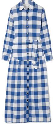 Mara Hoffman Joni Gingham Organic Cotton Maxi Dress - Blue