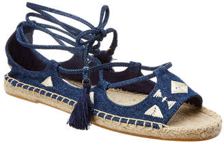 Soludos Embroidered Tie-Up Flat