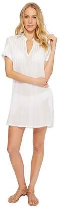 Lauren Ralph Lauren Crushed Cotton Darcy Tunic Cover-Up Women's Swimwear