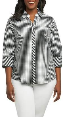 Foxcroft Mary Gingham Wrinkle Free Shirt