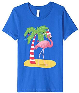 Christmas Flamingo Beach T Shirt Tropical Fashion Tee
