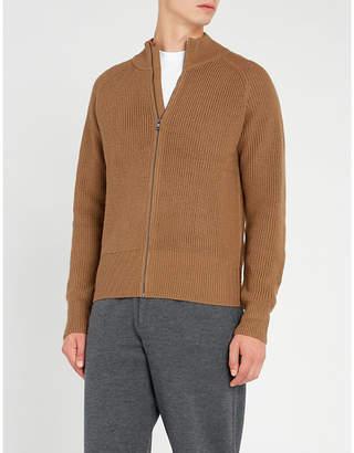 Falke Zipped funnel-neck wool jumper