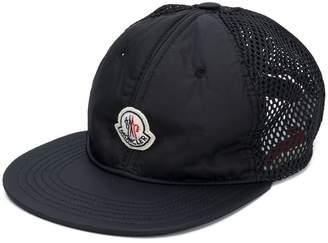 Moncler logo plaque trucker hat