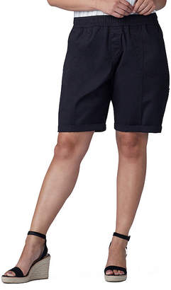 Lee Pull On Bermuda Womens Mid Rise 10 Bermuda Short-Plus