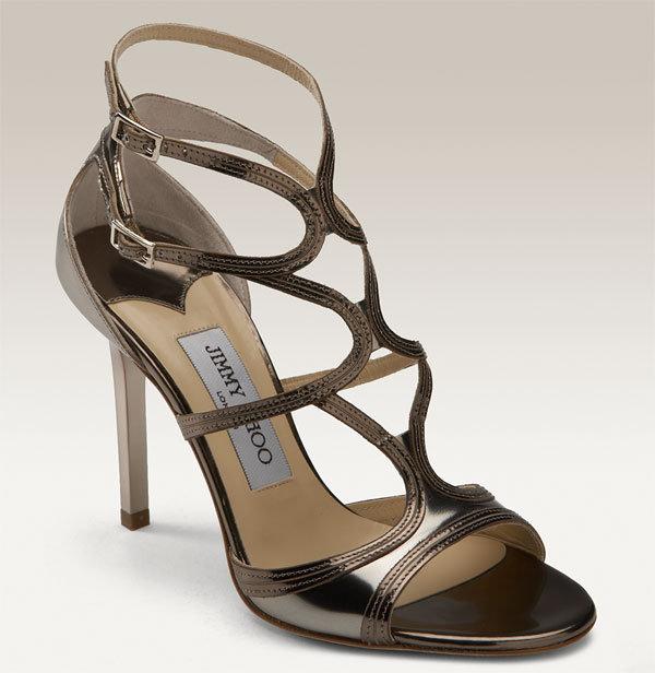 Jimmy Choo 'Dasha' Metallic Leather Sandal