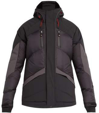 Perfect Moment - Chevron Quilted Down Filled Ski Jacket - Mens - Black Grey