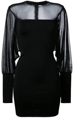 Balmain sheer panel fitted dress