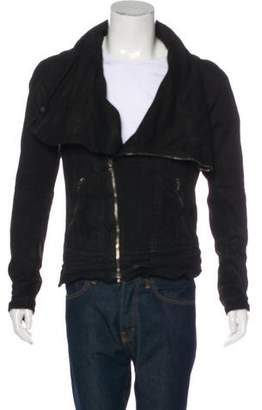 Julius Cowl Neck Moto Jacket