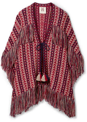 Figue Formentera Fringed Alpaca Cardigan - Burgundy