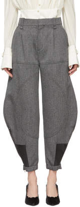 Chloé Black and White Cargo Trousers