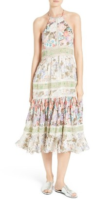 Women's Rebecca Taylor Mixed Print Midi Dress $695 thestylecure.com