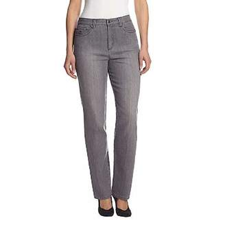 Gloria Vanderbilt Womens Amanda Straight Leg Jean ( Average, Lunar Wash)