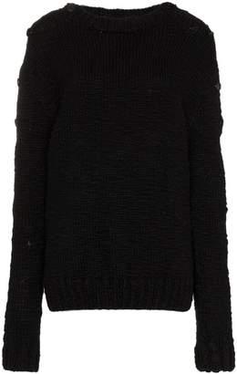 Ann Demeulemeester Button-sleeve knit wool jumper