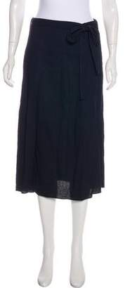 Helmut Lang Midi Wrap Skirt