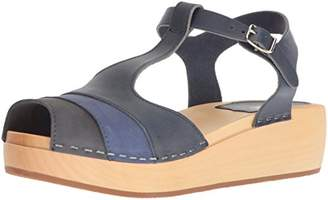 Swedish Hasbeens Women's 90's T-Strap Wedge Sandal
