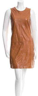 ADAM by Adam Lippes Leather Mini Dress