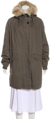 Yves Salomon Army by Fur-Trimmed Parka Coat