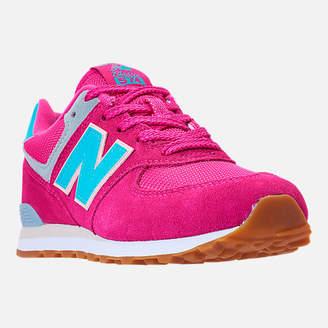 New Balance Girls' Grade School 574 Casual Shoes