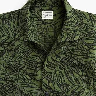 J.Crew Short-sleeve seersucker shirt in leaf print