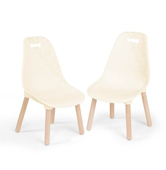 B. Toys B. Kid Century Modern, Ivory Chair Set