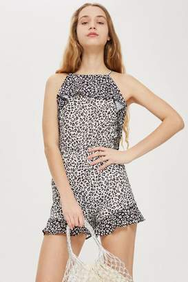 Oh My Love **Leopard Playsuit with Frill