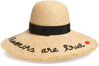 Kate Spade The Rumors Are True Raffia Hat