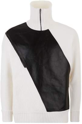 Givenchy Leather Panel Sweater