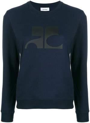 Courreges logo print sweatshirt