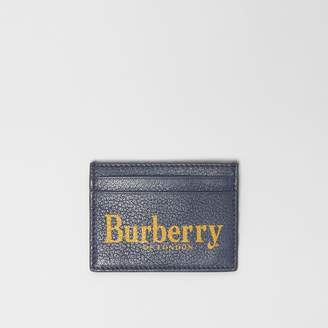Burberry Logo Print Leather Card Case, Blue