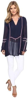 Tolani - Lani Embroidered Tunic Blouse Women's Blouse $173 thestylecure.com