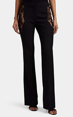 Altuzarra Women's Vespa Lace-Inset Wool Flared Pants - Black