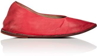 Marsèll WOMEN'S POINTED-TOE LEATHER FLATS