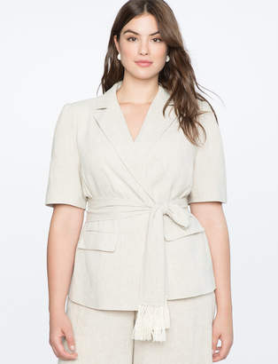 Short Sleeve Linen Blazer
