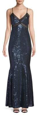 Zac Posen Sequined Mermaid Gown